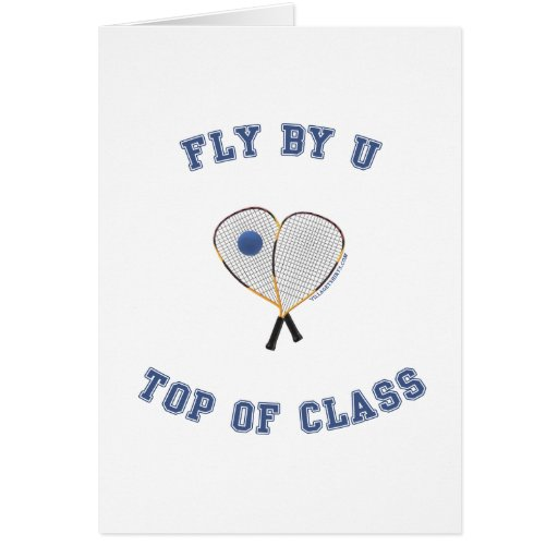 Fly By U Racquetball Card
