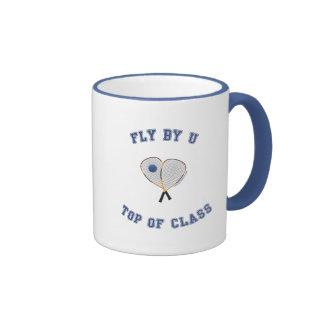 Fly By U Racquetball Mug