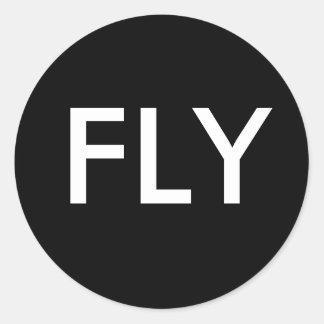 FLY CLASSIC ROUND STICKER