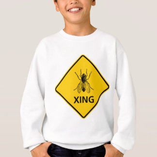 Fly Crossing Highway Sign Sweatshirt