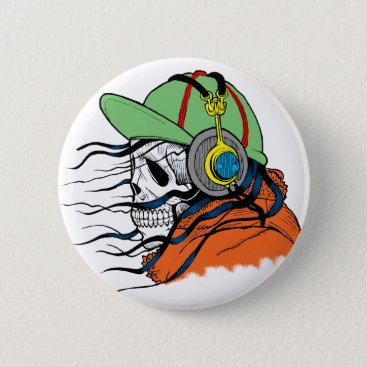 Halloween Themed Fly Death Pinback Button