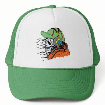 Halloween Themed Fly Death Trucker Hat