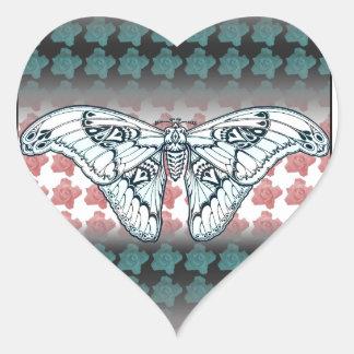 Fly Fancy Heart Sticker
