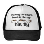 Fly Fish Man's Heart Hat
