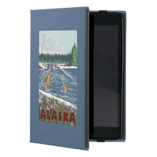 Fly Fisherman - Anchorage, Alaska Cover For iPad Mini