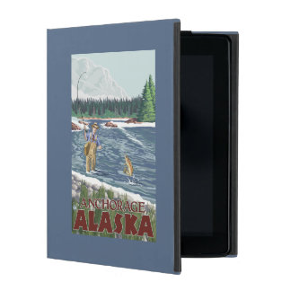 Fly Fisherman - Anchorage, Alaska iPad Cover
