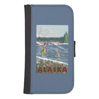 Fly Fisherman - Anchorage, Alaska Phone Wallets