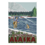 Fly Fisherman - Anchorage, Alaska Posters