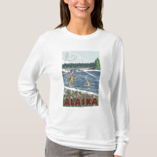 Fly Fisherman - Anchorage, Alaska T-Shirt