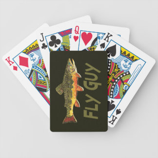 Fly Fisherman Bicycle Playing Cards