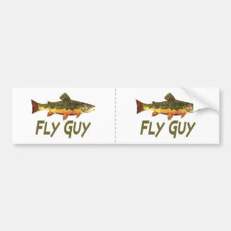 Fly Fisherman Bumper Sticker