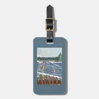 Fly Fisherman - Cordova, Alaska Tag For Luggage
