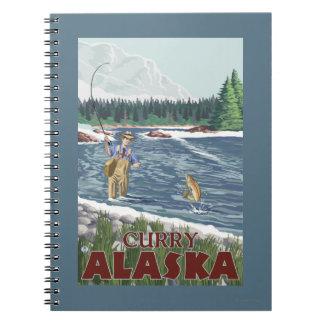 Fly Fisherman - Curry, Alaska Spiral Notebook