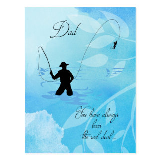 Fly Fisherman Fishing/Father's Day for Dad Postcard