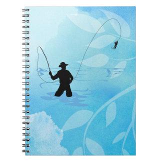 Fly Fisherman Fishing Notebook