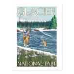 Fly Fisherman - Glacier National Park, MT Postcard