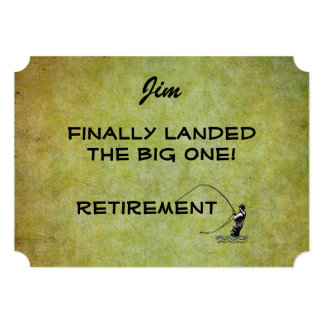 Fly Fisherman - Landed Big One! Retirement Card