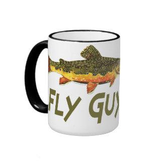 Fly Fisherman Coffee Mugs