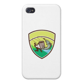Fly Fisherman Mug Salmon Crest Retro Cases For iPhone 4