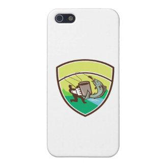 Fly Fisherman Mug Salmon Crest Retro iPhone SE/5/5s Case