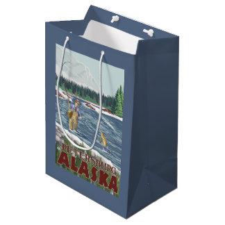 Fly Fisherman - Petersburg, Alaska Medium Gift Bag