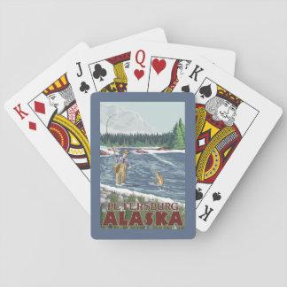 Fly Fisherman - Petersburg, Alaska Playing Cards