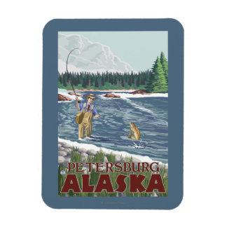 Fly Fisherman - Petersburg, Alaska Rectangular Photo Magnet