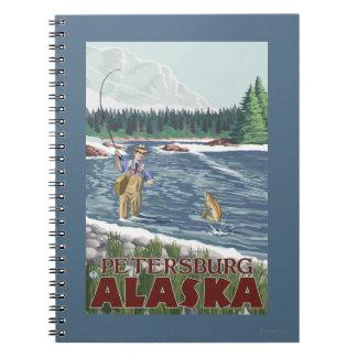 Fly Fisherman - Petersburg, Alaska Spiral Notebook