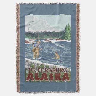 Fly Fisherman - Petersburg, Alaska Throw Blanket