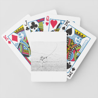 fly fisherman bicycle poker cards