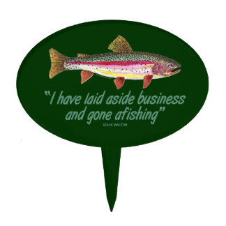 Fly Fisherman Quote Cake Topper