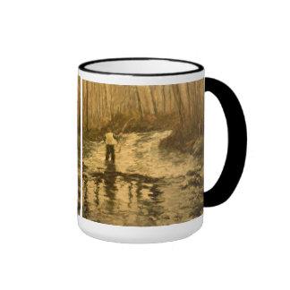 Fly Fisherman Ringer Mug