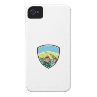 Fly Fisherman Salmon Mug Crest Retro Case-Mate iPhone 4 Case