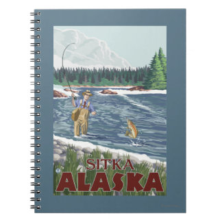 Fly Fisherman - Sitka, Alaska Notebook