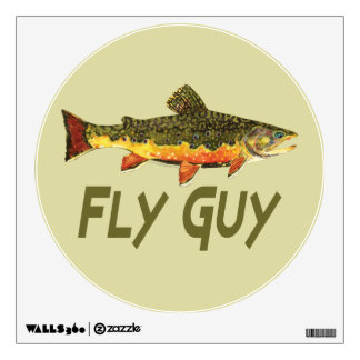 Fly Fisherman Wall Decal