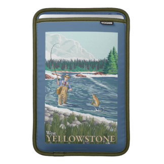 Fly Fisherman - West Yellowstone, Montana Sleeve For MacBook Air
