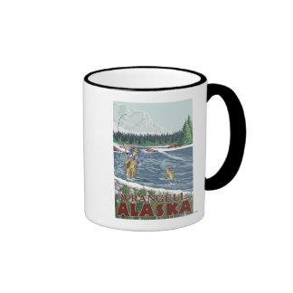 Fly Fisherman - Wrangell, Alaska Mugs