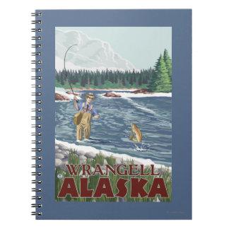 Fly Fisherman - Wrangell, Alaska Notebook