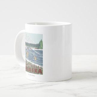 Fly Fisherman - Wrangell, Alaska Extra Large Mugs