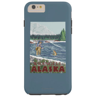 Fly Fisherman - Wrangell, Alaska Tough iPhone 6 Plus Case