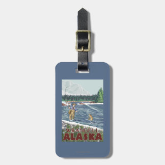 Fly Fisherman - Wrangell, Alaska Travel Bag Tags