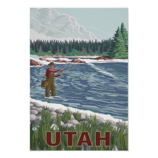 Fly fishing posters fly fishing prints art prints for Fly fishing posters