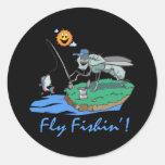 Fly Fishin' Classic Round Sticker