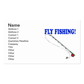 Fly Fishing 2 Business Card