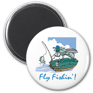 Fly Fishing 2 Inch Round Magnet