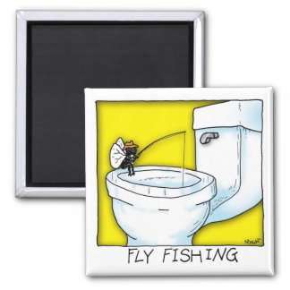 Fly Fishing 2 Inch Square Magnet