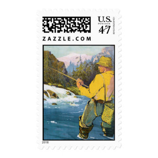 Fly Fishing 2 Postage