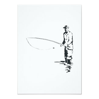 Fly Fishing 5x7 Paper Invitation Card