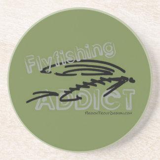 Fly Fishing Addict Drink Coaster