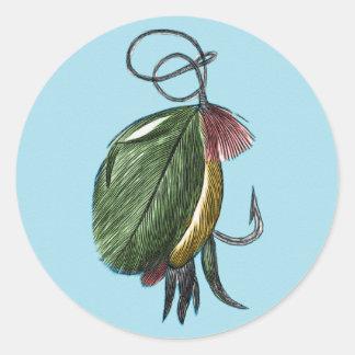 Fly Fishing Art Classic Round Sticker